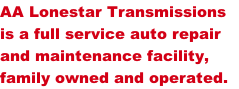 AA Lonestar Transmissions